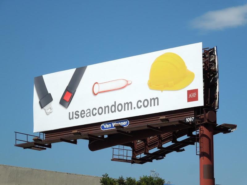 Hardhat condom billboard