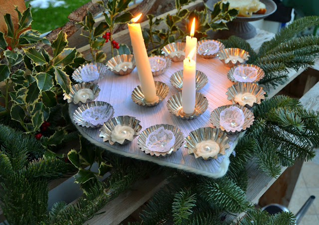 cake tin candleholder http://shabbychiclife-silvia.blogspot.it