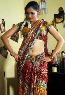 Andrea Jeremiah Sexy Navel Photo in Saree