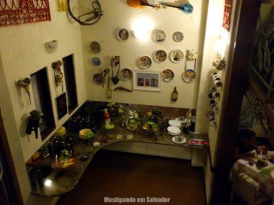 Cantina Cosa Nostra: Mesa de antepastos (vista do segundo andar)