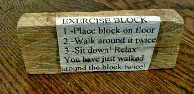 Exercise Block Semi Wordless Wednesday