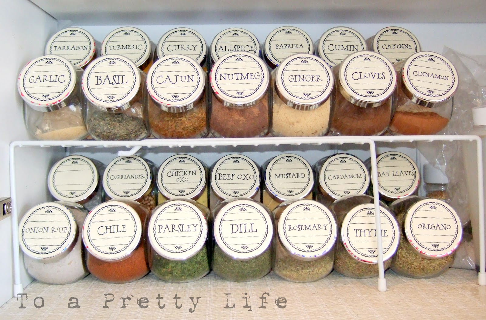 to a pretty life pretty spice labels