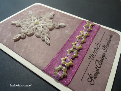 christmas card quilling