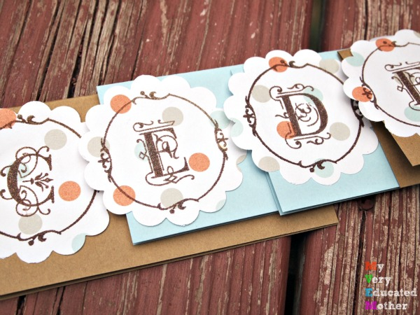 Stamped Place Cards make any Thanksgiving dinner feel special! Plus they're easy to make DIY!