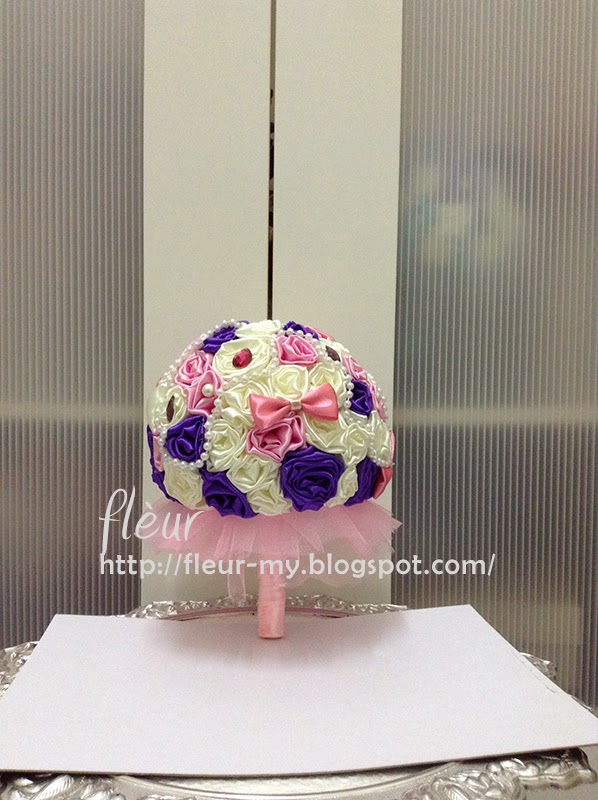 Pink and Purple Bouquet by Fleur