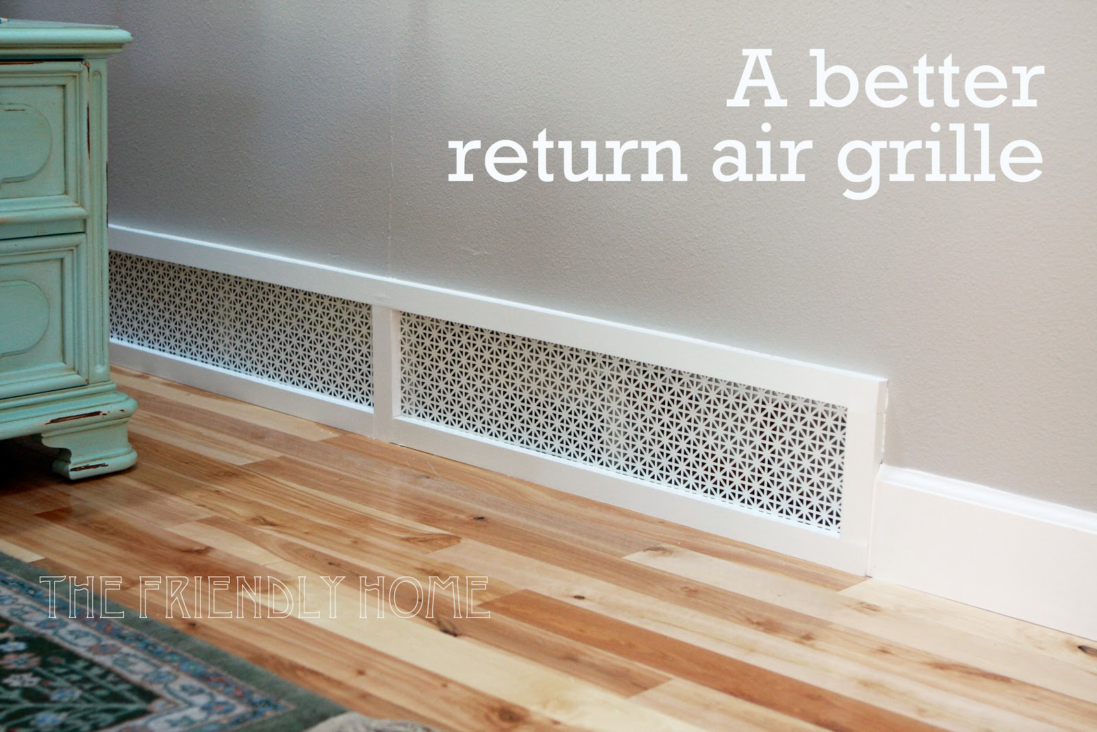 better looking return air grille #8F5E3C