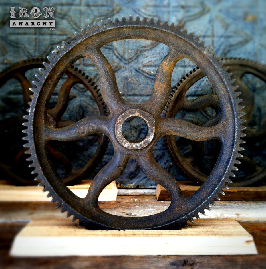 Cast Iron Wheels And Gears : S american industrial gear sculpture