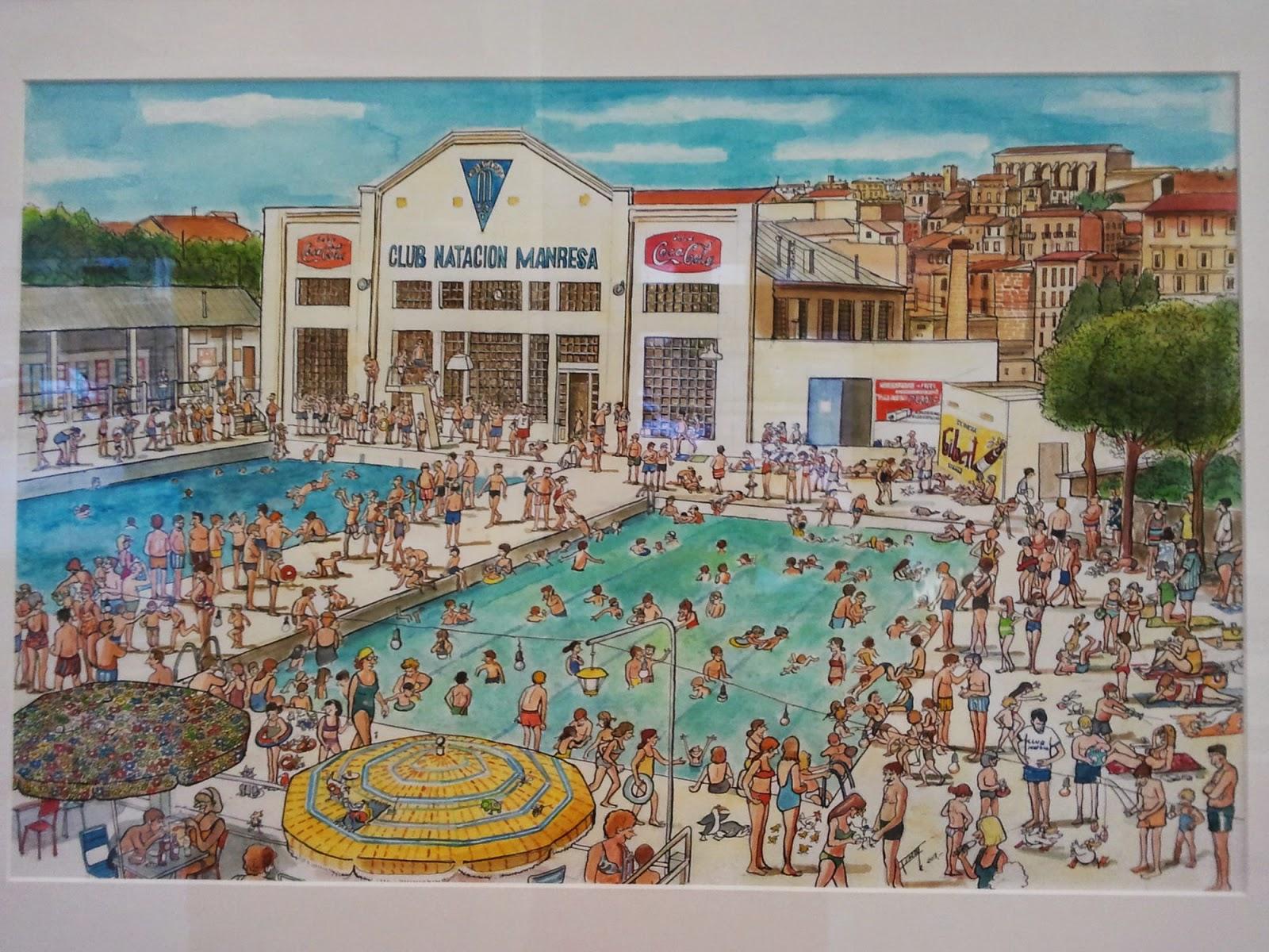 Picalapica els dibuixos de ferran costa for Piscina municipal manresa