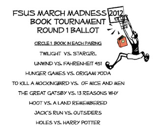Photo of March Madness Round 1 Ballot
