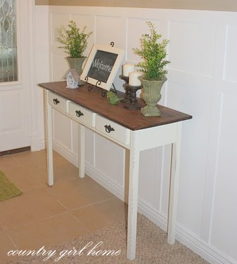 make your own entryway table 2