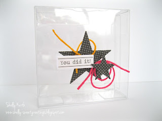 SRM Stickers Blog - Card Gift Set by Shelly - #cards #mini #clear containers #congrats #gift #graduation #twine #stickers