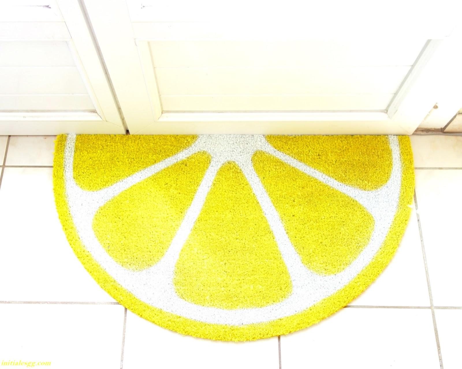 diy un paillasson vitamin pour la rentr e initiales gg. Black Bedroom Furniture Sets. Home Design Ideas