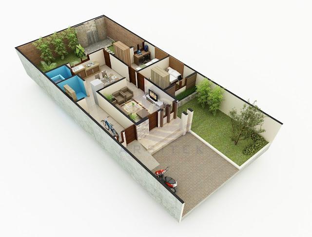 Desain Aksonometri Rumah Ibu Errika di Karanganyar