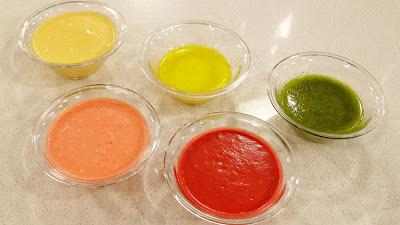 Salsas de vinagreta de colores