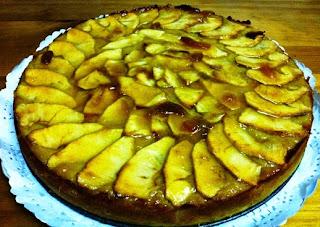 Pastel de Manzana, Glaseado con Almíbar de Piña