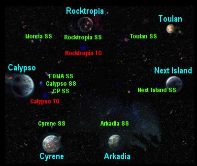 Entropia Universe - Space Map