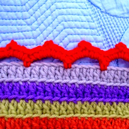 Stripy Blanket Edging