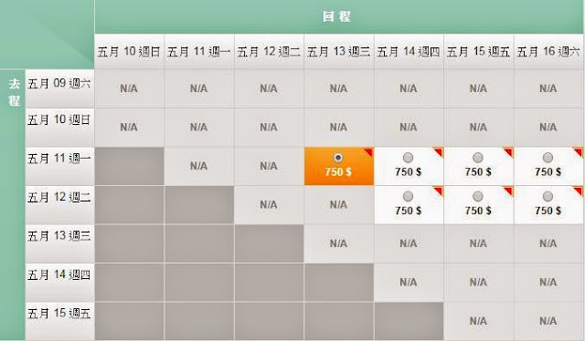 長榮航空 香港往返台北$750起(連稅$1,089起)