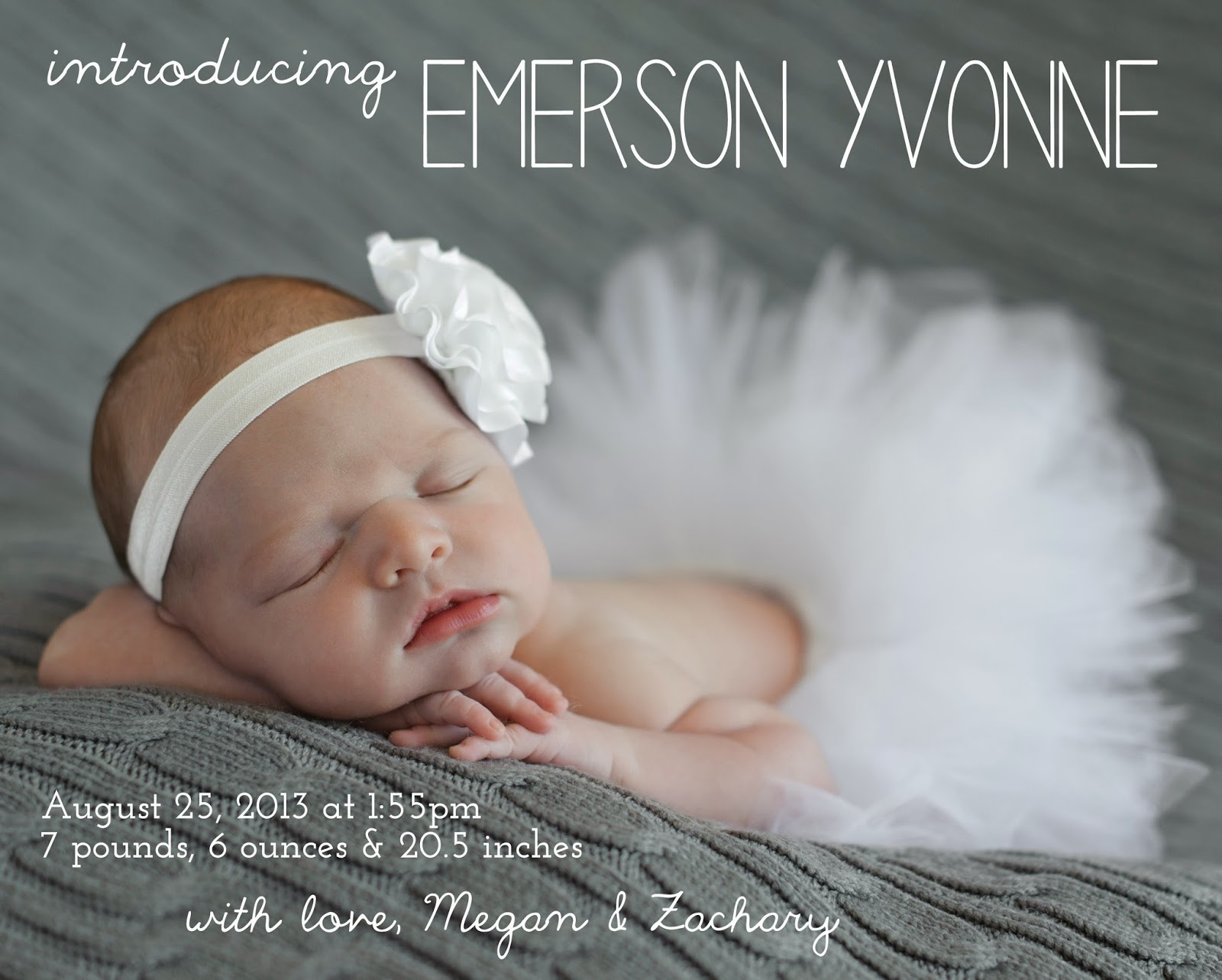 make bake and love Emersons Birth Announcement – Costco Birth Announcements