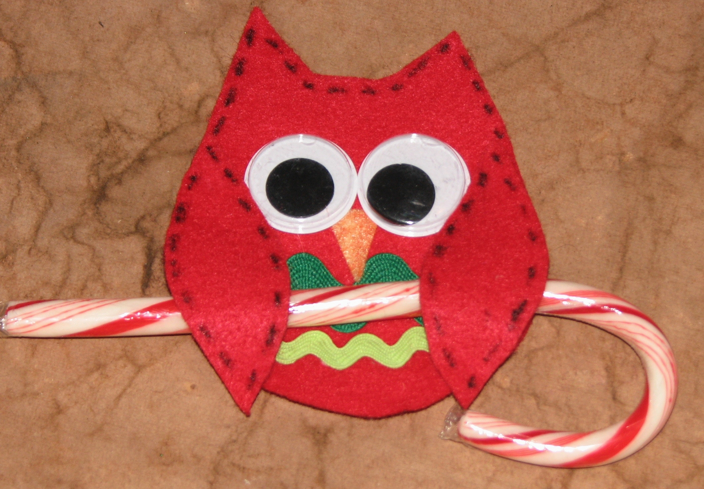 Christmas Craft Ideas With Candy Canes Part - 41: Candy Cane Owl Holder Variation