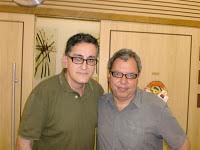Com o poeta Carlito Azevedo