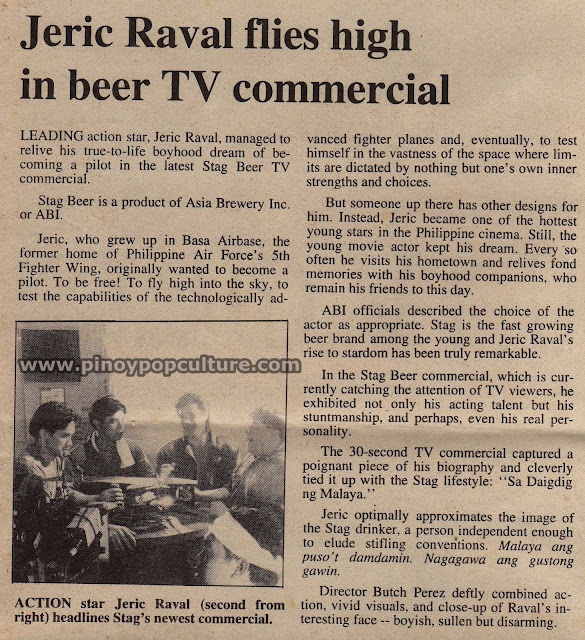 Jeric Raval, Richard Quan, Stag Pale Pilsen beer TV commercial