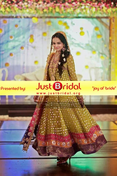 new mehndi dresses collection for Pakistani girls\