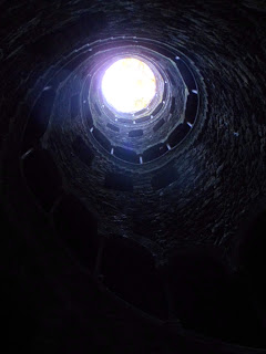 Bottom of the initiation well, Quinta da Regaleira, Sintra Portugal
