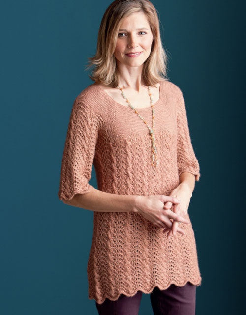 Tunic Sweater Knitting Pattern : Kristen TenDykes Blog: Finish-Free Knits   Tranquility Tunic