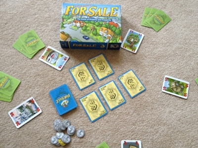 For Sale card game in play