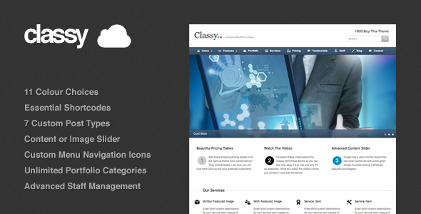 Classy WordPress Theme Free Download by ThemeForest.