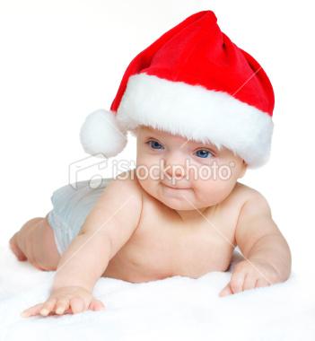Cute Santa Claus In His Childhood