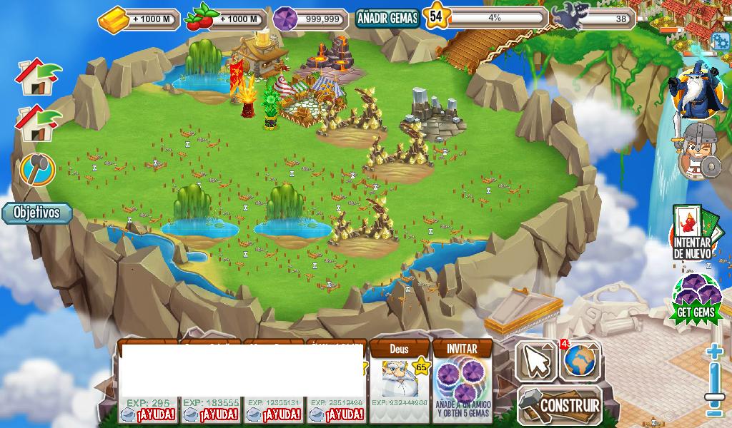 comida,oro y gemas pues este es mi dragon city (no muy bien cargado