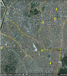 Localização do consulado americano em São Paulo
