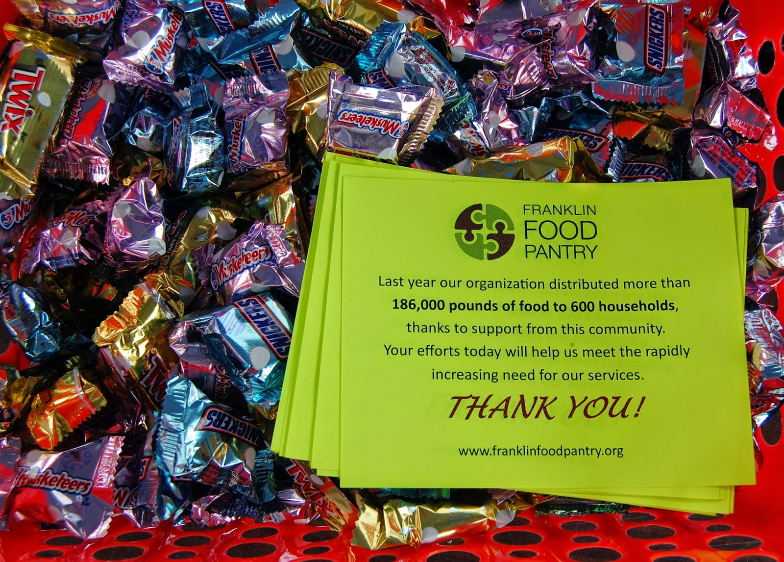 thank you notes and candy for the postal carriers