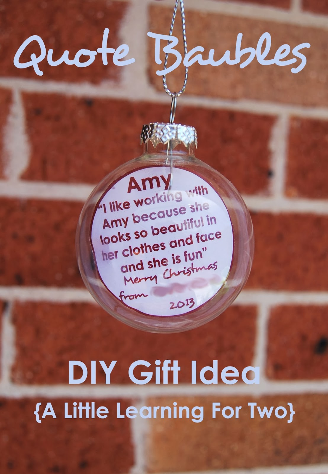 Preschool Teacher Quotes Unique A Little Learning For Two Teacher Gifts  Quote Baubles