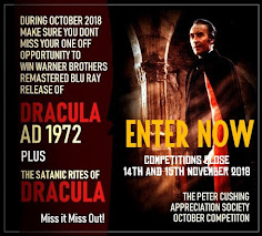 PCASUK COMPETITION NEWS! HAMMER FILMS DRACULA RESURRECTED ONTO BLU RAYS!