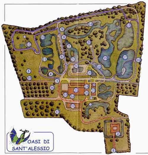 mappa Oasi di Sant'Alessio