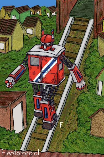 Robot transformable como alegoría de Valparaíso