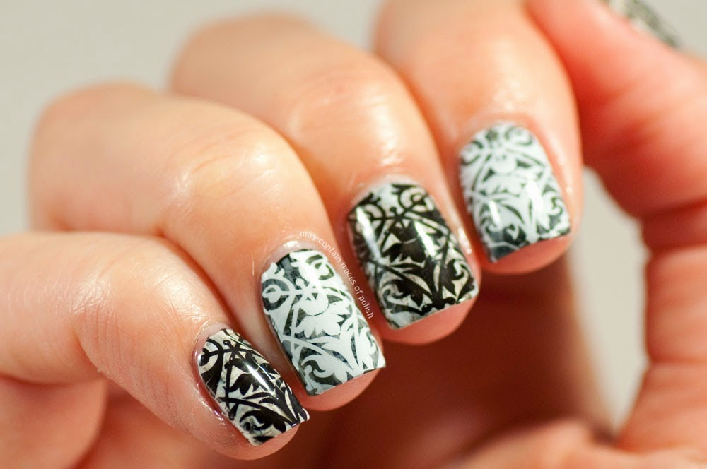 31 Day Challenge 2014: Day 7, Black and white nails - May contain ...