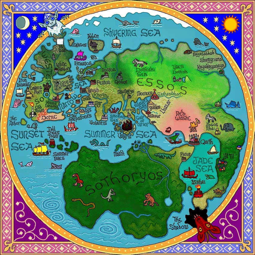 Mapa Canción de Hielo y Fuego