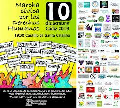 Marcha cívica por los Derechos Humanos, 10 de diciembre a las 19 horas en el Castillo de Santa Cata