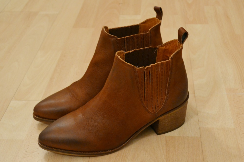 office indiana tan leather ankle boots