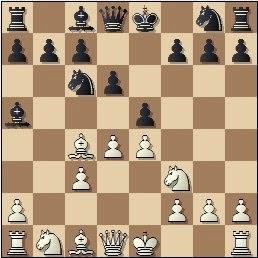 Partida de ajedrez Escuté vs. Capó, posición después de 6...d6