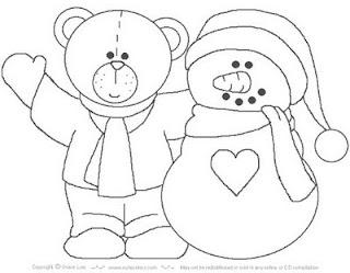 Riscos para patchwork e pintura de Ursos