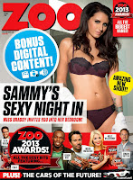 Magazine cover  :Sammy Braddy Hot Photoshoot Pics on ZOO UK Magazine cover December 2013 HQ Scans