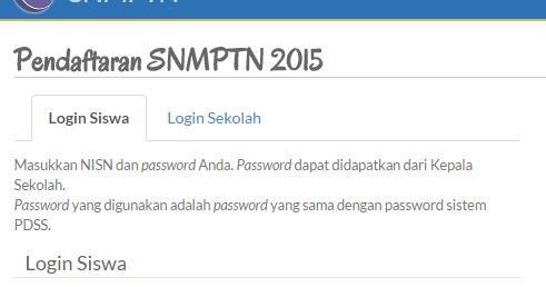 Tampilan Login Pendaftaran Snmptn 2015 Untuk Siswa Sbmptn 2017 Soal Dan Pembahasan