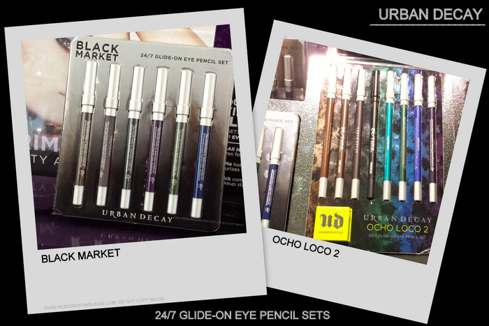 Urban Decay 24/7 Eyeliner Pencils Sets - Black Market - Ocho Loco 2 - Photos Swatches