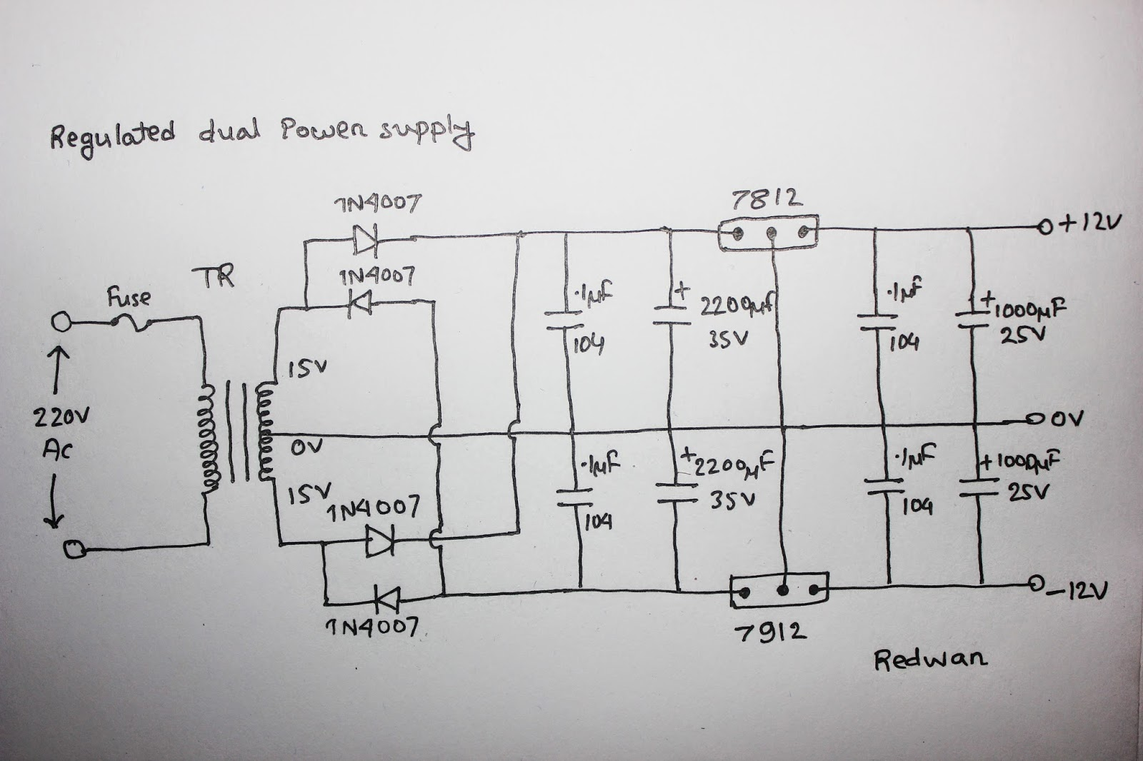 Circuit Diagram Of Center Tap Transformer 220v Wiring Scavengers Blog Dual Power Supply