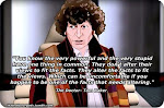 Tom Baker as Dr. Who, from the Daily Kos